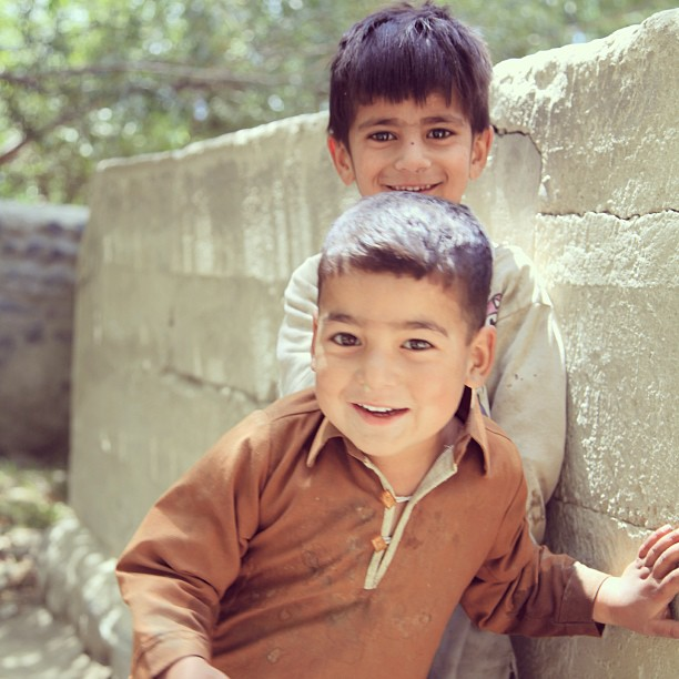 Warm Welcome by the Baltistan Kids | Near Amburiq Masjid, Baltistan | Northern PAK