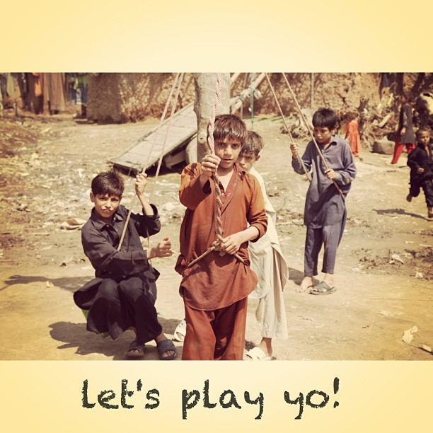 Afghan Kids at the Own Playground | Near METRO, Isloo PAK
