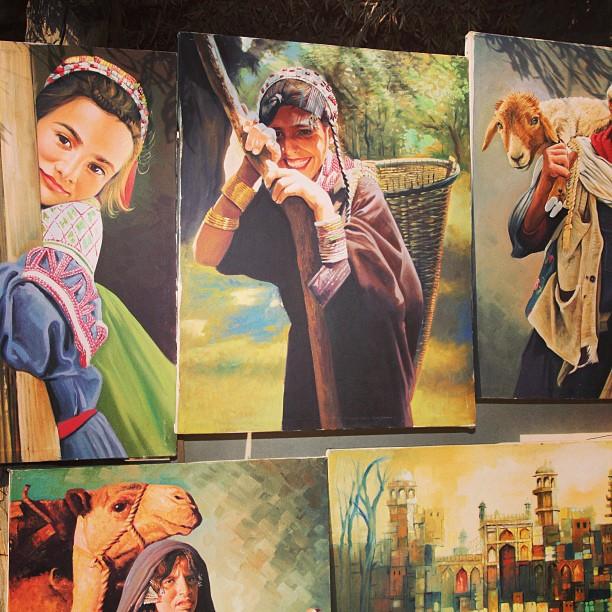 Beaituful Oil On Canvas | Saidpur Village, Isloo PAK