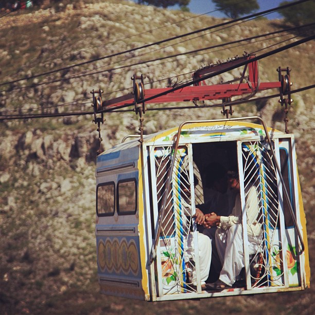 Chairlift Zam Zam Ala Kazzam | Shrine Near Kallar Kahar, Punjab Province PAK