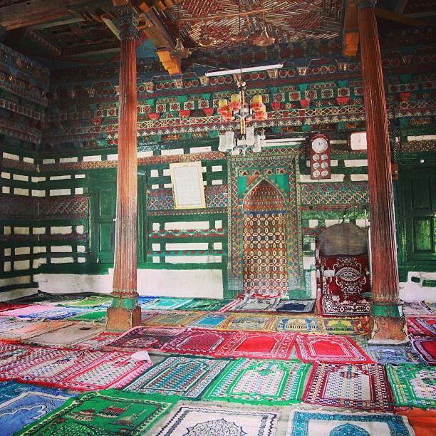 Colourful & Vibrant | Main Prayer Hall, Chaqchan Masjid | 700 Years Old, Founded By Mir Sayyid Ali Hamadani | Chaqchan = Miraculous | Grandeur Iranian & Tibetan Design | Khaplu Valley, Baltistan | Northern PAK