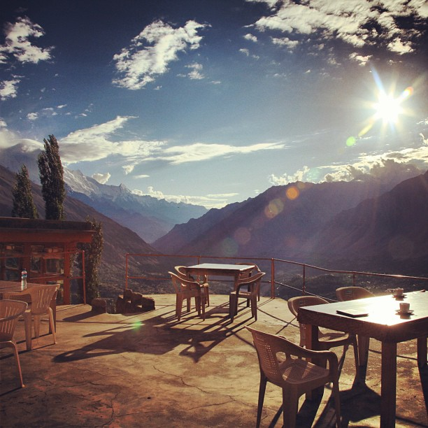 Sipping Chai, Watching The Snow-Capped Mountains | Road Less Travelled | Eagle Nest Hotel | Duikar, Hunza Valley | Gilgit-Baltistan Region, Northern PAK