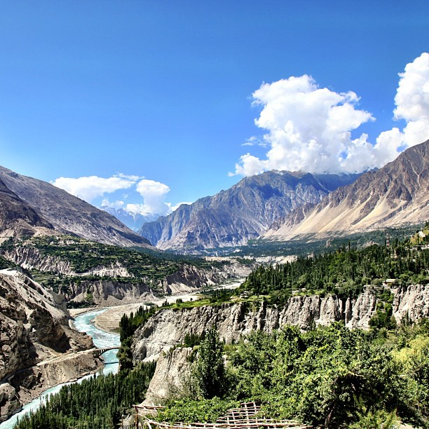 Hunza River | View from Altit Fort | Hunza Valley, Gilgit-Baltistan | Northern PAK