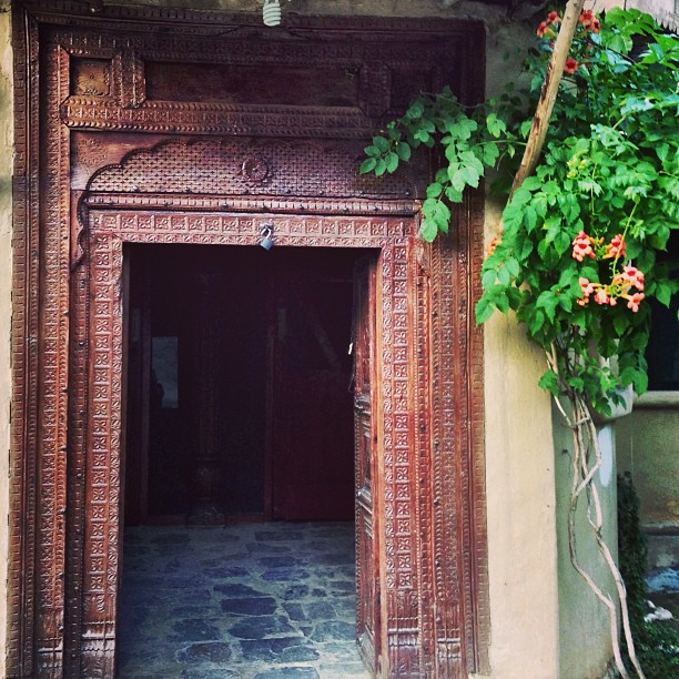 Old Crafted Door | Shangrila Hotel | Day 2 via the Karakoram Highway | Chilas | Northern Pakistan