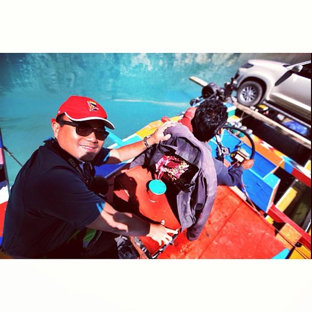 Lepas 10 Minit Barulah Boleh Senyum | Tadi Gabra Giler Haha | Crossing the #Attabad Lake | Near Gojal / Sishkat / Gulmit | #Karakoram Highway | #Hunza Valley | Gilgit-Baltistan, Northern #Pakistan