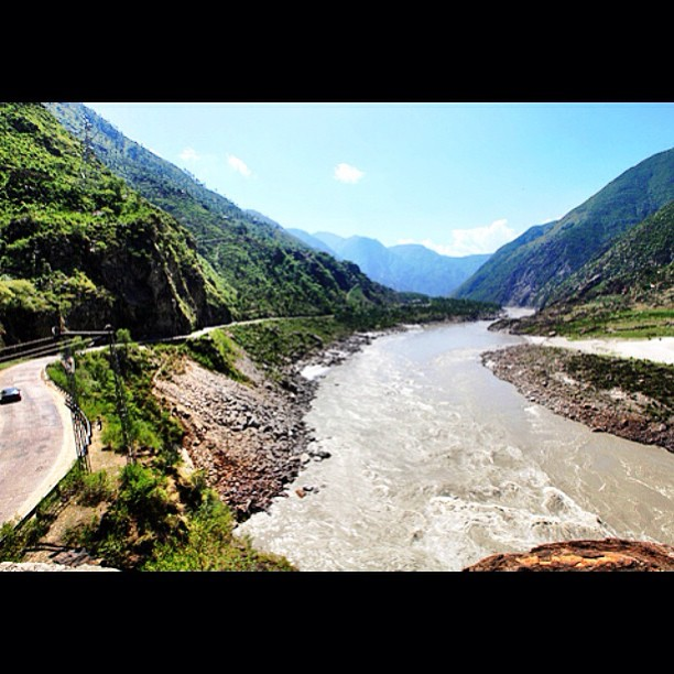 The Mighty Indus River With The Karakoram Highway On The Left | Road Less Travelled | Karakoram Highway | Indus Kohistan Region | Khyber Pakhtoonkhwa Province, Pakistan