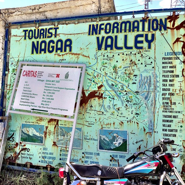 Tourist Information at Nagar Valley | Rakaposhi Base Camp View | Hunza Nagar | Hunza Valley | Karakoram Highway | Gilgit-Baltistan, Northern Pakistan