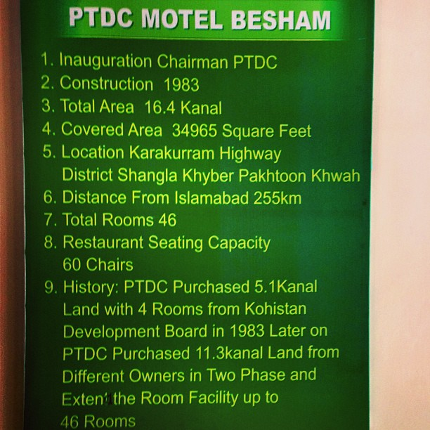 The History of PTDC Motel Besham | Road Less Travelled | Karakoram Highway | District Shangla | Indus Kohistan Region | Khyber Pakhtoonkhwa Province, Pakistan