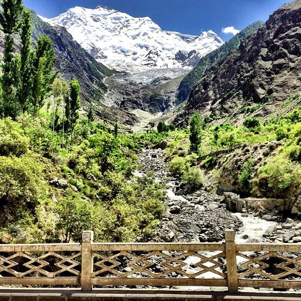 Famous Tourist Spot, Tepi Jambatan You! | Rakaposhi Base Camp View | Hunza Nagar | Hunza Valley | Karakoram Highway | Gilgit-Baltistan, Northern Pakistan