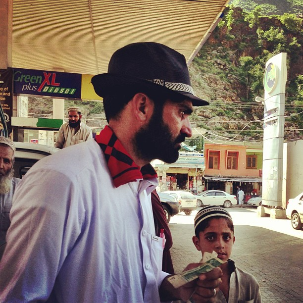 That Hat ! | PSO Gas Station | Besham Qila | Road Less Travelled | Karakoram Highway | Indus Kohistan Region | Khyber Pakhtoonkhwa Province, Pakistan