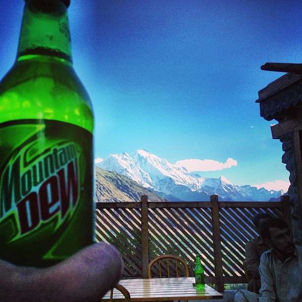 Mountain Dew With The Mountain View | Baltit Fort, Karimabad | Hunza Valley | Gilgit-Baltistan, Northern Pakistan