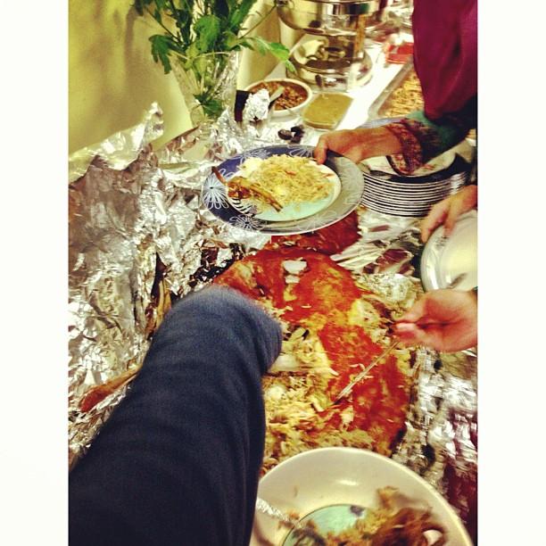 Nasi Biryani Yang Dimasak Di Dalam Perut Kambing Bersama Burung Puyuh & Telur Rebus :) | Majlis Berbuka Puasa Expertise Intl Pvt Ltd | Residential Complex, High Commission Malaysia | Diplomatic Enclave | Islamabad, Pakistan