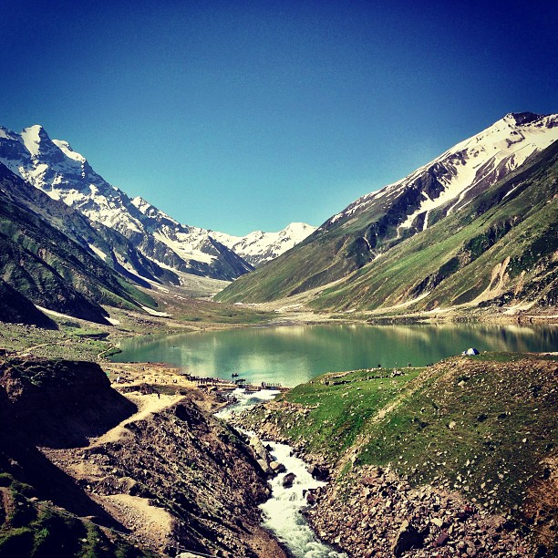 Jheel Saif-ul Mulook In Summer | Facing Malika Parbat @ Mountain | Kaghan Valley | Khyber Pakhtoonkhwa Province, Pakistan