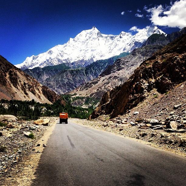 Welcome to Hunza Valley ! | That's Rakaposhi Peak In Front Of You | On Your Left is the Ancient Silk Road | Hunza-Nagar | Karakoram Highway | Gilgit-Baltistan, Northern Pakistan