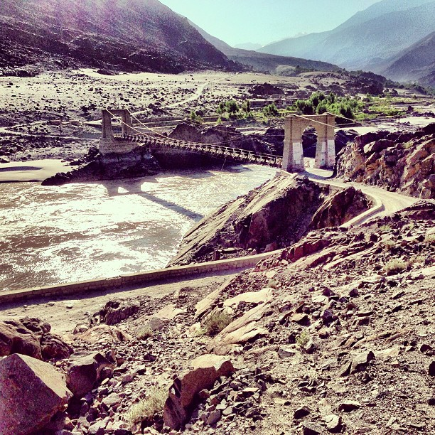 Bridge to the Green Valley | Near Chilas Town | Karakoram Highway | Northern Pakistan
