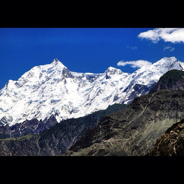 Rakaposhi Mountain Peak 7,788m | Kinu Kutto View Point | Ancient Silk Road | Karakoram Highway | Hunza-Nagar | Hunza Valley | Gilgit-Baltistan, Northern Pakistan