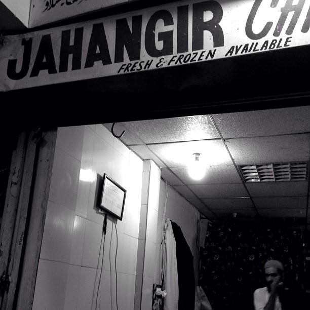 Jahangir Chicken Shop in Noir Version | Rana Market | iPhoenography | Islamabad, Pakistan
