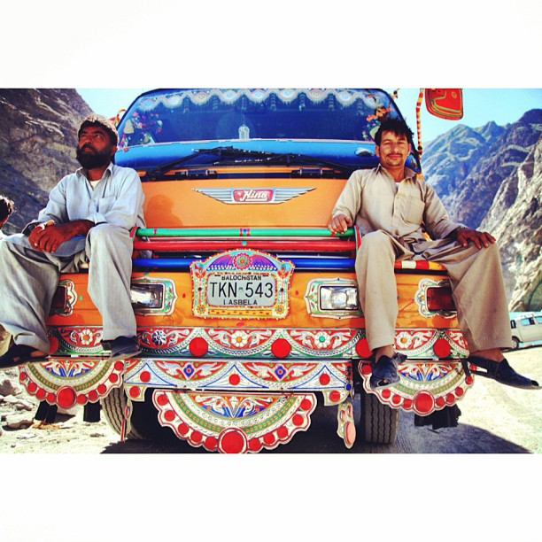 Local Truck Drivers | Posing Ala Hipsters :) | Daily Life | Blocked #Karakoram Highway | #Attabad Lake, #Hunza Valley | Gilgit-Baltistan, Northern #Pakistan