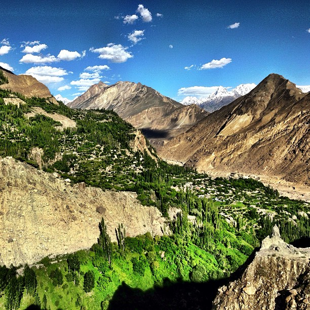 View of Hunza Valley from Top Floor of Baltit Fort | Karimabad | Gilgit-Baltistan, Northern Pakistan