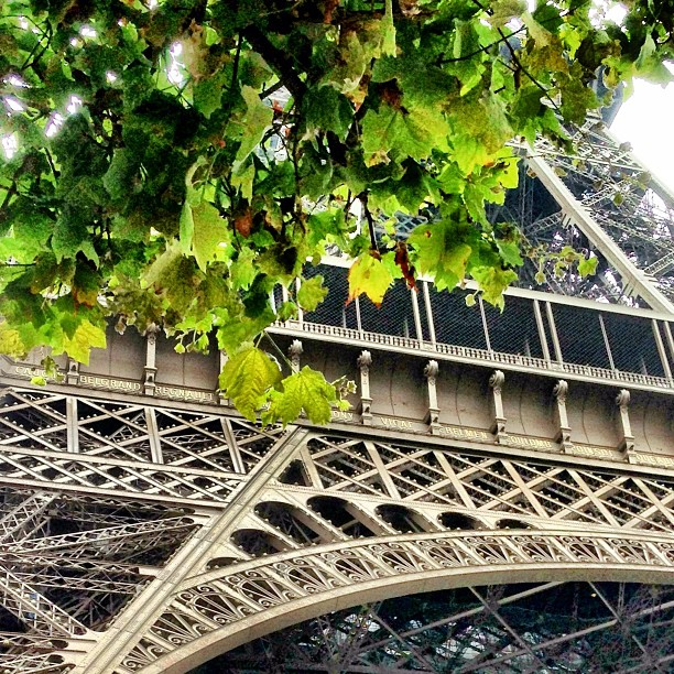 Senyum Tak Perlu Kata Apa2 w/ @erlena94 | Good Morning | #Eiffel Tower | iPhoneography | Autumn 2013 | #JJCMPaghis | #Paris, France