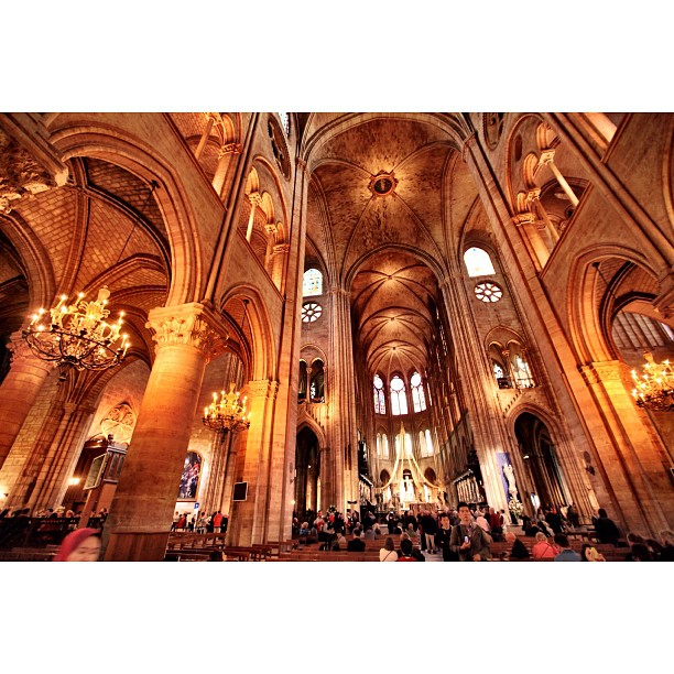 Huge Decorated Hall | Handheld With No Flash | Cathederal #NotreDame | City of Love | Cold Autumn 2013 | #JJCMPaghis | #Paris, France