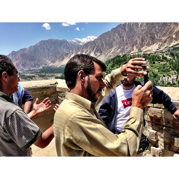 Cameraman in Action ! | #Altit Fort | Altit Village | #Karakoram Highway Journey | #Hunza Valley | #iPhonegraphy | #Gilgit-Baltistan Region | Northern #Pakistan