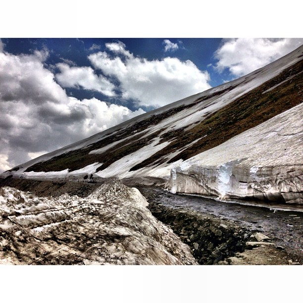 The Glacier Is Melting | Babusar Top at 4,173m | #Babusar Pass | Highest Road at #Kaghan Valley | #Khyber Pakhtoonkhwa Province, #Pakistan