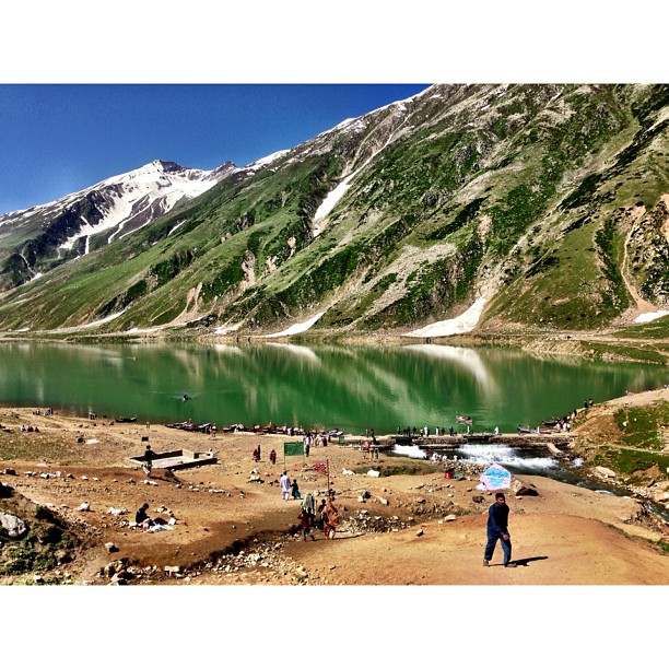 Reflection | Lake #Saif-ul #Mulook at 3,224m | Facing #Malika #Parbat Mountain at 5,290m | #iPhoneography | #Kaghan Valley | Northern Pakistan Trip 2013 | #Khyber #Pakhtoonkhwa Province | #Pakistan
