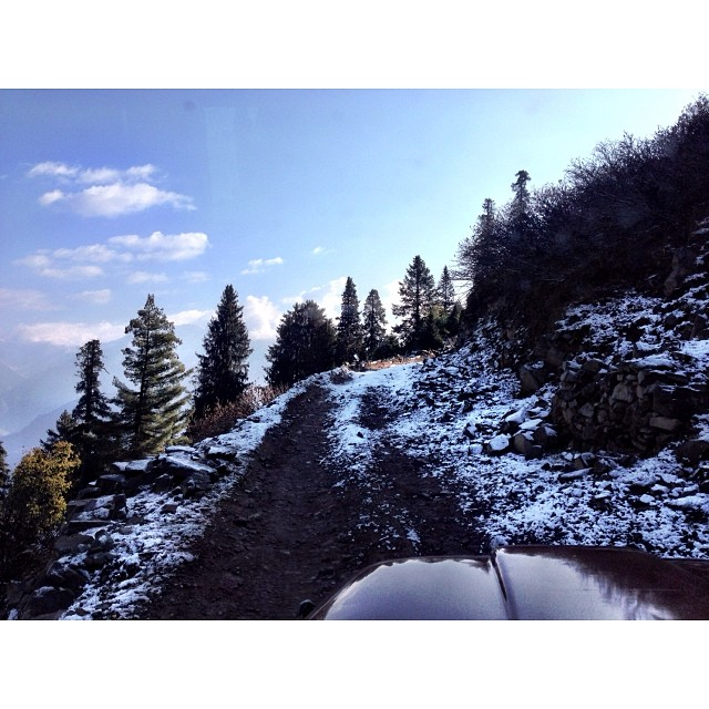 Jeep Ride | 1st Snowfall of this Winter Season | #Siri #Paye Meadows | #Shogran Meadows | #Kaghan Valley | iPhoneography | #Winter 2013 | Khyber #Pakhtunkhwa Province, #Pakistan