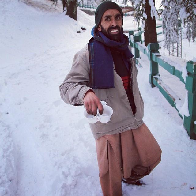 Doodpathi Chai | Thick Snow | #Winter 2012 | On the Way to #Kashmir Point | #Murree Hill | The #Galliyat | Punjab Province | #Pakistan (at Murree)