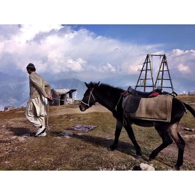 Horse Riding | 1st Snowfall of this Winter Season | #Siri #Paye Meadows | #Shogran Meadows | #Kaghan Valley | iPhoneography | #Winter 2013 | Khyber #Pakhtunkhwa Province, #Pakistan