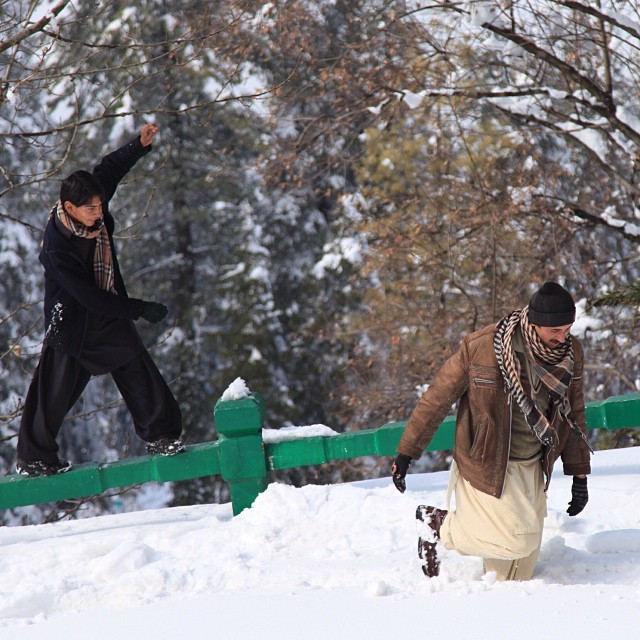 Balancing, Thick Snow & Deep | #Winter 2012 | #Kashmir Point | #Murree Hill | The #Galliyat | Punjab Province | #Pakistan