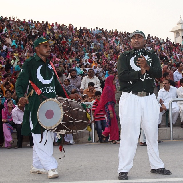 Lowering Flag Ceremony | #Wahga Border | Near #Lahore | Summer 2012 | Pakistan-India Border | #Punjab Province, #Pakistan