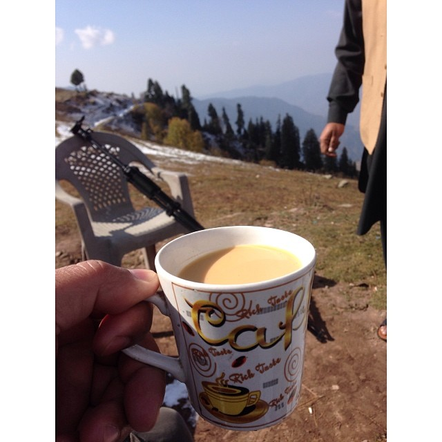 Chai at 3,000m | 1st Snowfall of this Winter Season | #Siri #Paye Meadows | #Shogran Meadows | #Kaghan Valley | iPhoneography | #Winter 2013 | Khyber #Pakhtunkhwa Province, #Pakistan