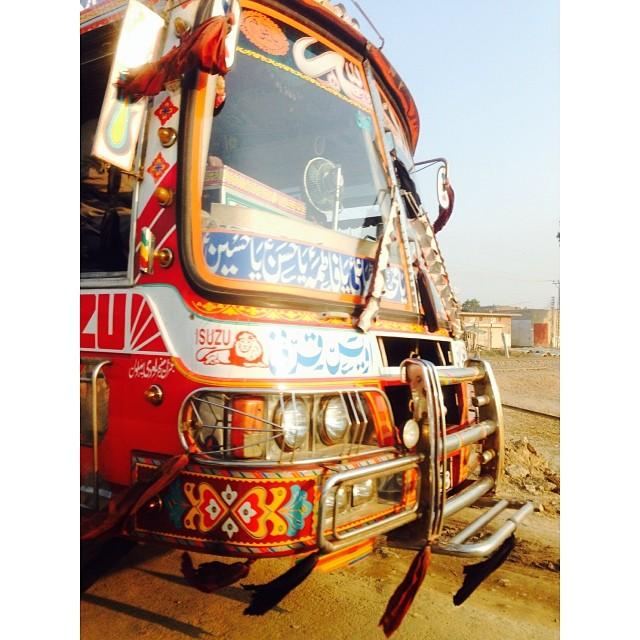 Art on Wheel | iPhoneography | Pakistan Truck | #Muridke Town | Near #Lahore | #Punjab Province, #Pakistan
