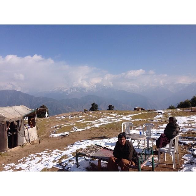 Chai Walla | 1st Snowfall of this Winter Season | #Siri #Paye Meadows | #Shogran Meadows | #Kaghan Valley | iPhoneography | #Winter 2013 | Khyber #Pakhtunkhwa Province, #Pakistan