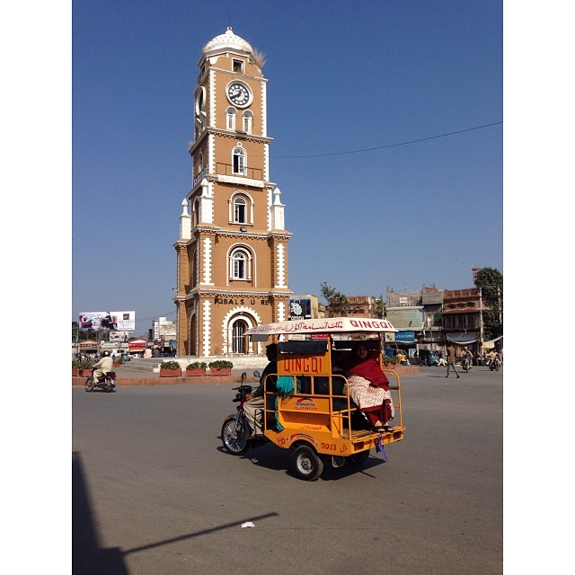 Clock Tower at Iqbal Square | Near #Sialkot | Winter 2013 | iPhoneography | Road Less Travelled | #Punjab Province, #Pakistan