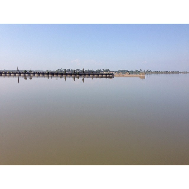 Head #Marala | River #Chenab | Gujrat Village | Wetland Park | iPhoneography | #Winter 2013 | Road Less Travelled | Near #Sialkot | #Punjab Province, #Pakistan