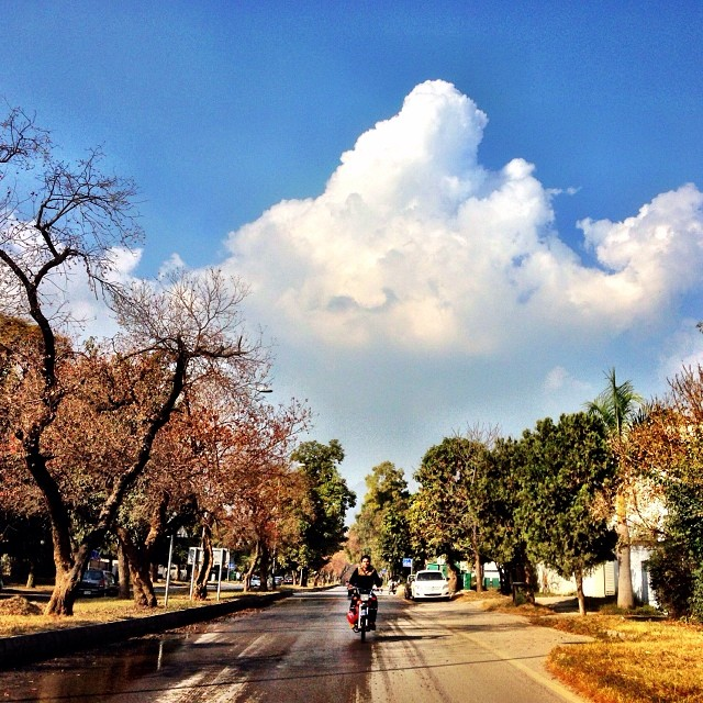 Beautiful Weather Today | No More Autumn Leaves | Winter 2013 | #Marvi Rd | #Islamabad, Pakistan