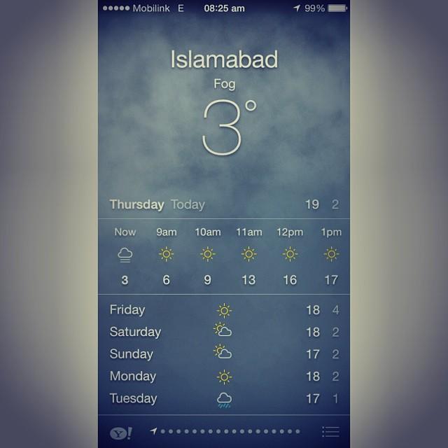 Good Morning Isloo ! 3'c Jer Pagi Ni Ya   #Islamabad, Pakistan