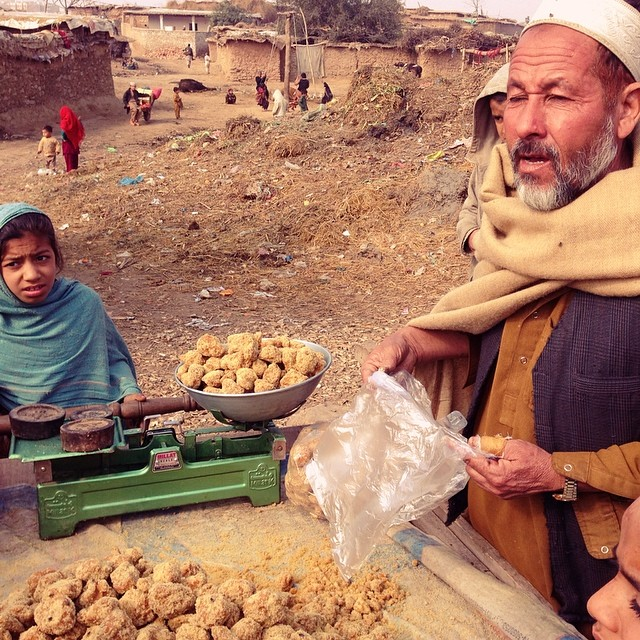 Gur Is A Sweet Made of Sugarcane | Easily Available During Winter Season | Winter 2013 | #Throwback #ManisGilerWei #BuburKacang | Afghan Camp Near METRO | Islamabad, Pakistan