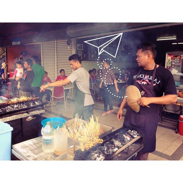Breakfast Like A King | Satay Pagi | Mee Rebus | Roti Manja | Tauhu Lentok | Nasi Lemak | #JJCM #VMY2014 #SedapGiler @igersmy | Satay Maharani, Muar | Johor, Malaysia