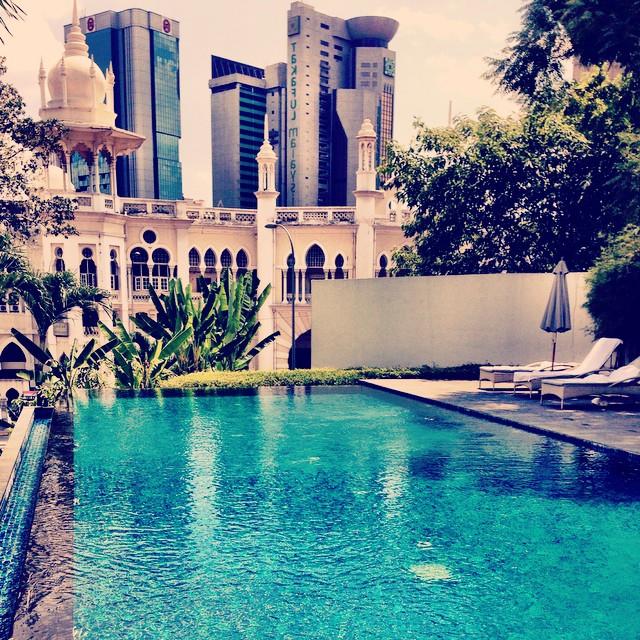 Infinity Pool + Moors Architecture | The Majestic Hotel | Kuala Lumpur, Malaysia