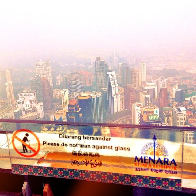 Dilarang Bersandar | Deck View | #KLTower | Ceylon Hill | Kuala Lumpur | Malaysia