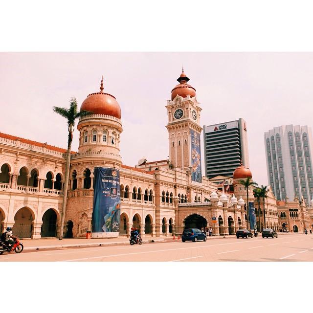 Sultan Abdul Samad Building | The Clock Tower | Near Dataran Merdeka | 1897 | Moorish Architecture | Architect AC Norman | Kuala Lumpur | Malaysia