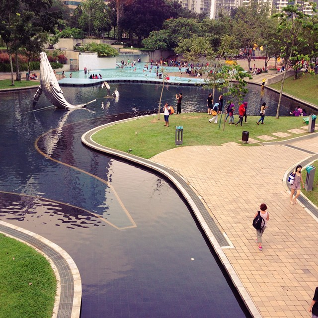 #KLCC Park | Designed by Roberto Burle Marx | 2-Acre Children's Playground | Symphony Fountain Lake | 1,900 Indigenous Trees | 40 Trees Preserved from the Old Selangor Turf Club | Kuala Lumpur | #Malaysia
