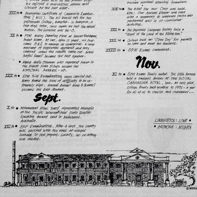 Power La Artwork Ko  @shahrulmiza ! | The Malay College Magazine 1992 | Kuala Kangsar | Perak